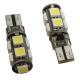 Ampoules veilleuses à LED T10 SMD 5W - Blanc