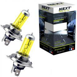Ampoules H4 12V 100W jaunes 2700K look ancien