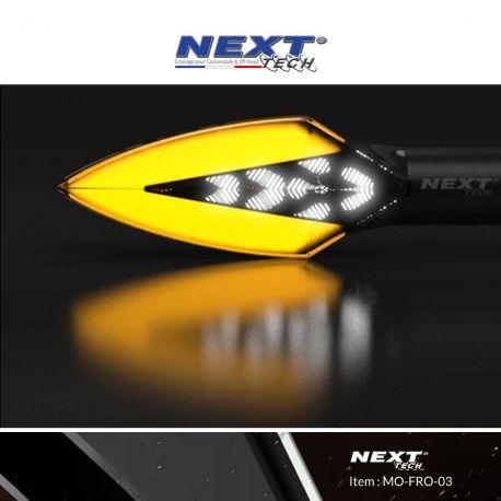 Clignotants LED moto aérodynamiques avec feux de jour blanc