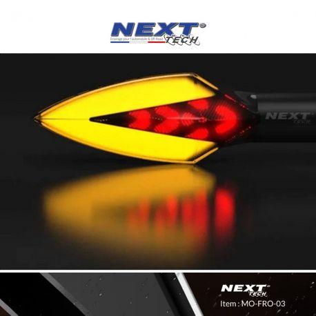 Clignotants LED moto aérodynamiques avec feux de stop