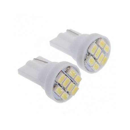 Ampoule veilleuse à LED T10 SMD 1W - Blanc