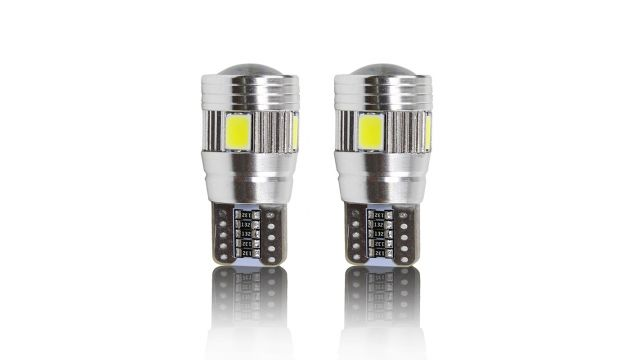 ampoules veilleuses canbus led t10 6w cree blanc. Black Bedroom Furniture Sets. Home Design Ideas