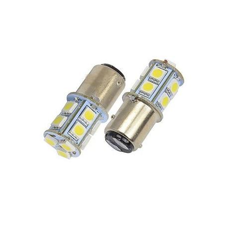 Ampoules P21/5W BAY15D 1157 à 13 LED Orange
