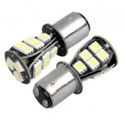 Ampoules P21/5W BAY15D 1157 à 18 LED CANBUS Orange