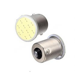 Ampoules PY21W BAU15S à LED COB - Orange