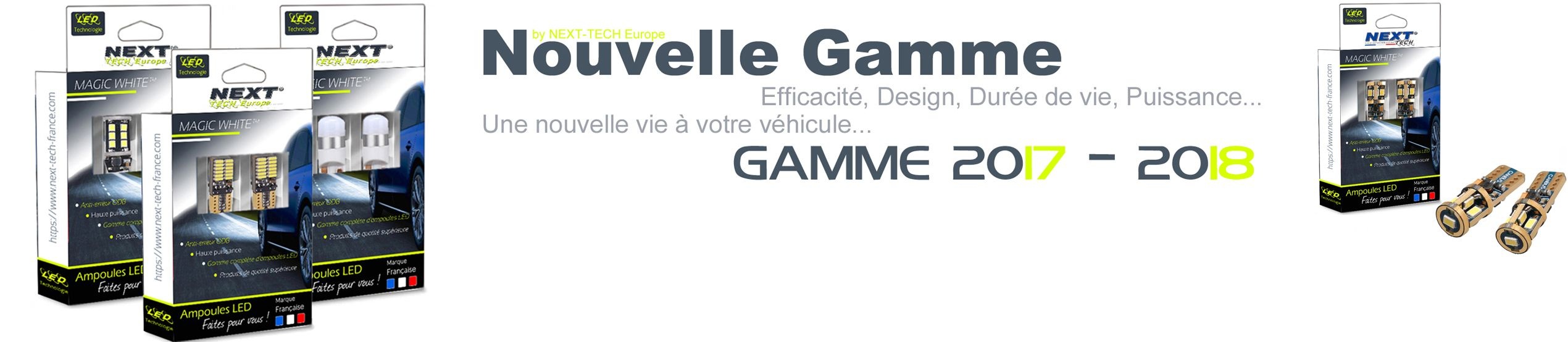Nouvelle gamme d'ampoules Next-Tech T10 W5W by Next-Tech Europe