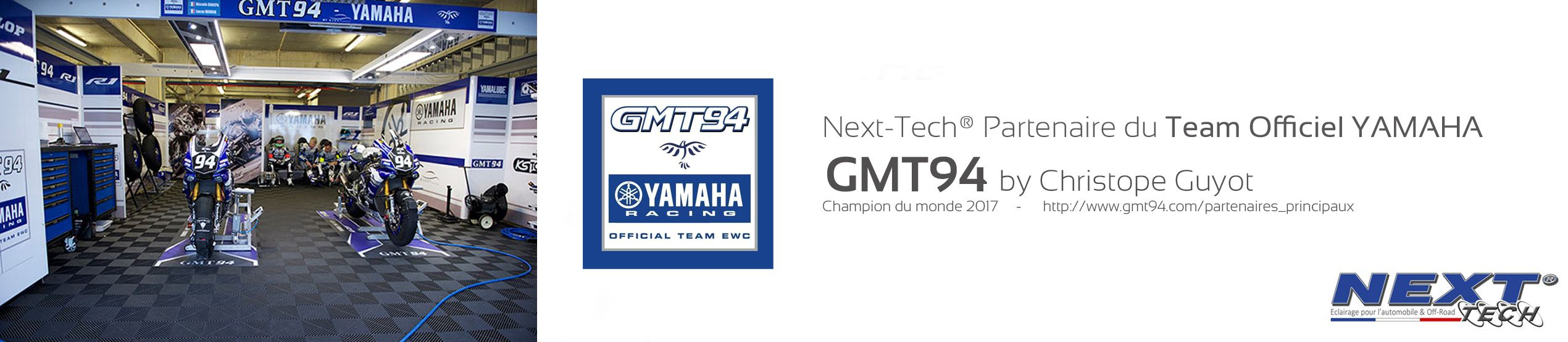 Next-Tech® partenaire officiel du GMT94 - World Champion EWC Team